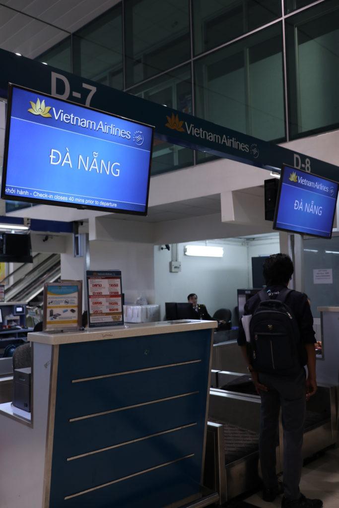 ベトナムホーチミンタンソンニャット空港国内線ダナン行き