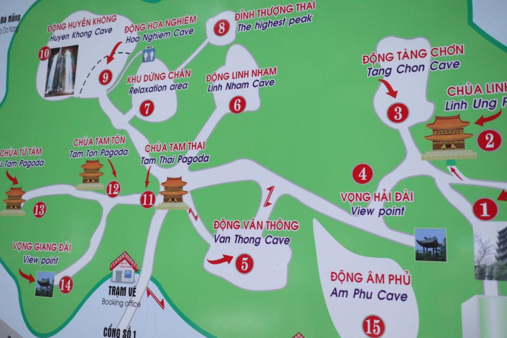 ダナン五行山の全体図