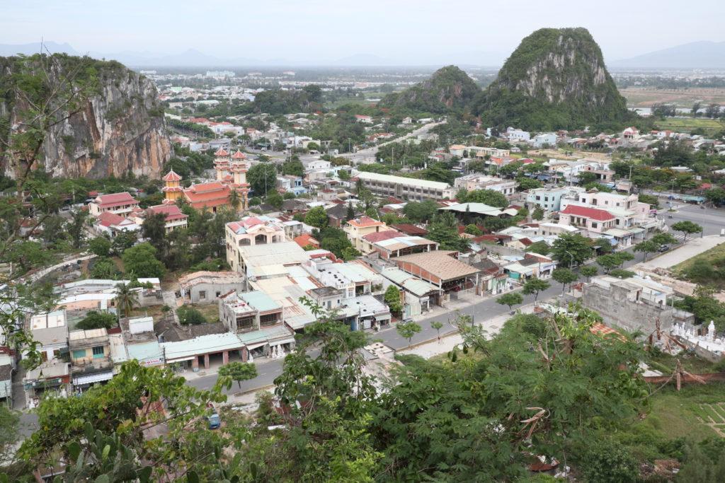 ダナンの五行山展望台からの景色