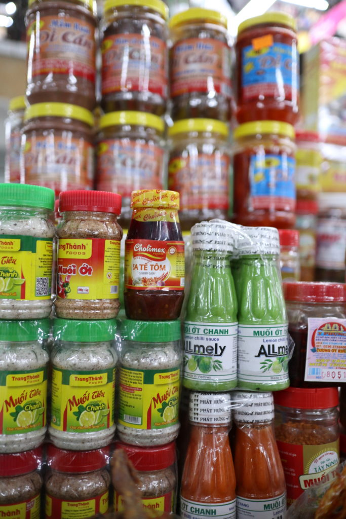 ハン市場の食品売り場