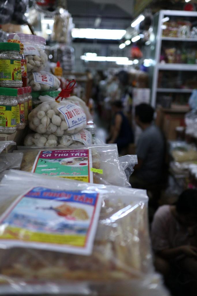 ハン市場の乾物売り場